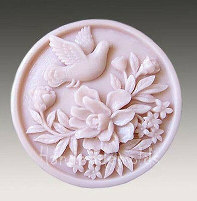 Flower Bird S013 Silicone Soap mold Craft Molds DIY Handmade soap mould
