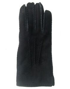 Pflichtbewusst Damen, Herren Lammfell Fingerhandschuhe Schwarz, Fellhandschuhe Schwarz Gr. 7-11
