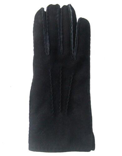 Fellhandschuhe schwarz Gr 7-11 Herren Lammfell Fingerhandschuhe schwarz Damen