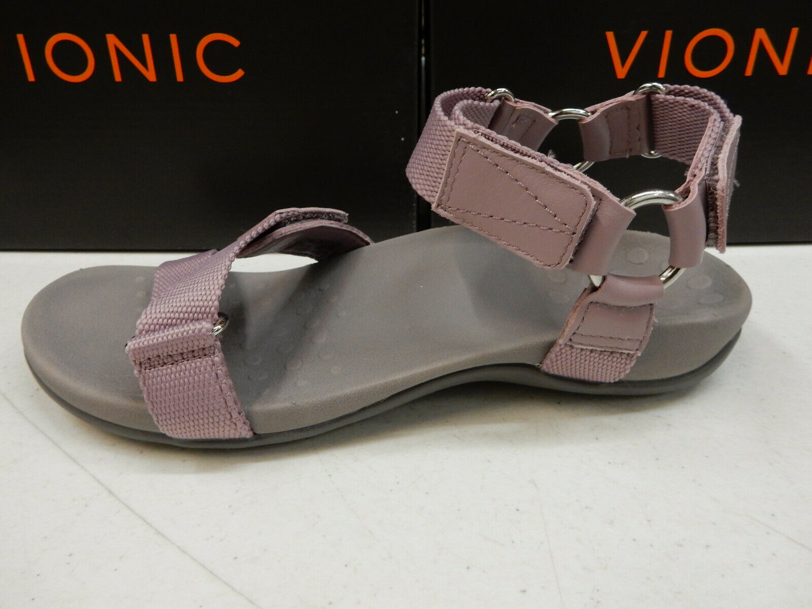 Vionic Womens Candace Backstrap Sandal Muave Size 8