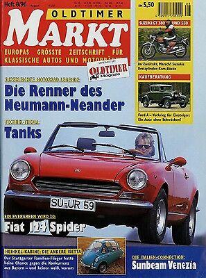 KüHn Oldtimer Markt 1996 8/96 Suzuki Gt 380 550 Fiat 124 Spider Heinkel Kabine Lemans Modische Und Attraktive Pakete Auto & Verkehr