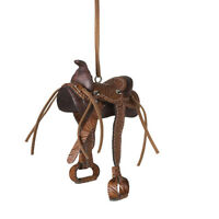 Western Saddle Christmas Tree Ornament, 3.25 Long, By Midwest Cbk