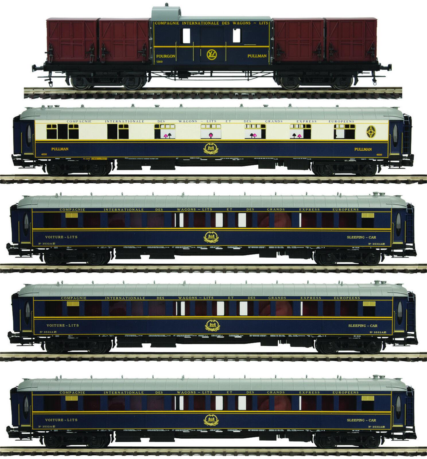 MTH Orient Express Add-on 5-Car Passenger Set Set Set for 3 Rail  O  Gauge 20-60022 1a311e