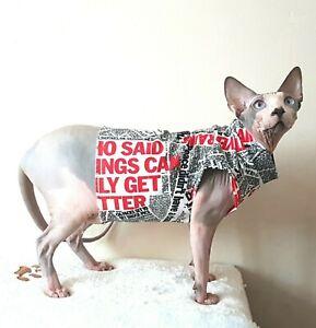 grande vendita 623d0 b92d3 Dettagli su GIORNALE, Maglione Gatto per un gatto SPHYNX, vestiti, Maglione  Pullover, hotsphynx- mostra il titolo originale