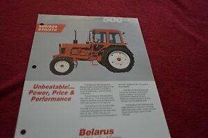 belarus 505 525 570 572 tractor dealer s brochure dcpa2 ebay