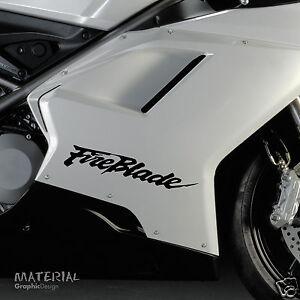 2x Honda Fireblade Logo Autocollant Decal Vinyle Vélo-course De Moto Moto Ktm-afficher Le Titre D'origine Prix De Vente