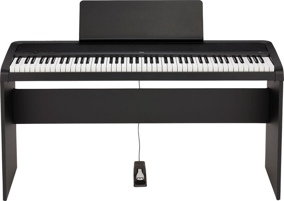 KORG B2-BK el-klaver med STB1-BK stativ Sort