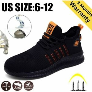 Outdoor Mens Safety Work Shoes Steel Toe Cap Boots Indestructible Sneakers US 12
