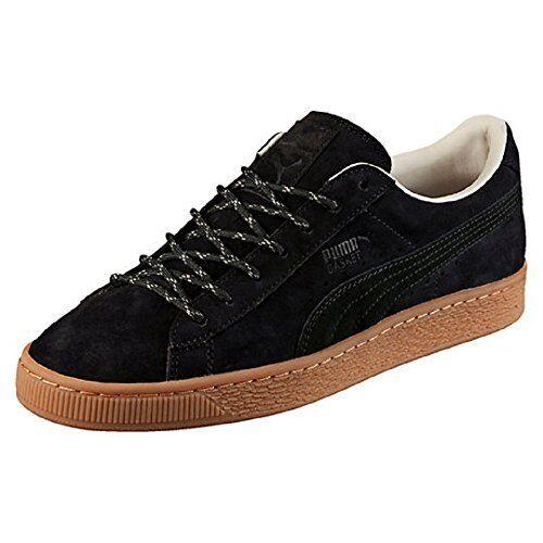 revendeur 7c57c 22c9d PUMA Basket Classic Winterized Mens Black Suede Lace up SNEAKERS Shoes 10.5