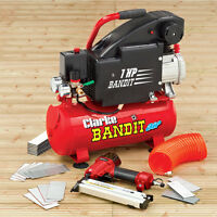 Clarke Bandit 4 - 8 Litre Air Compressor With Nailer / Stapler, Type 90 Staples