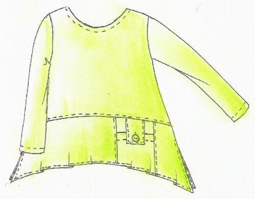 Motifs de coupe superposé shirt tunis taille L 48//50