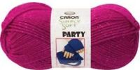 new lot of 3 skeins caron simply soft party yarn 035613140157 rich red sparkle Craft Supplies
