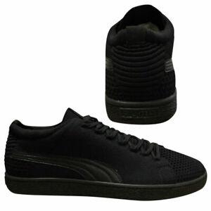 Puma-Basket-Evoknit-3D-Lace-Up-Black-Mens-Textile-Trainers-363650-03-Z13A