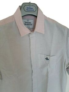 Mens-funky-MAN-by-VIVIENNE-WESTWOOD-short-sleeve-shirt-Size-I-small-RRP-260