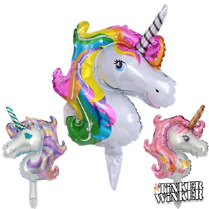Einhorn Ballon Folienballon Unicorn Regenbogen Kindergeburtstag Party
