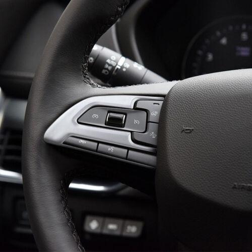 ABS Matt Steering Wheel Button Cover Trim Decor 2pcs For Cadillac XT4 2018-2019