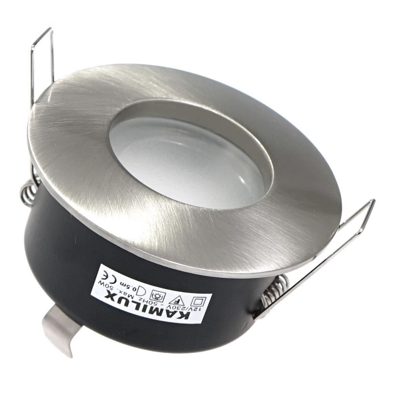 230Volt oder 12Volt Einbauleuchte Bad Aqua IP65 Nass- Feuchtraum GU10   MR16
