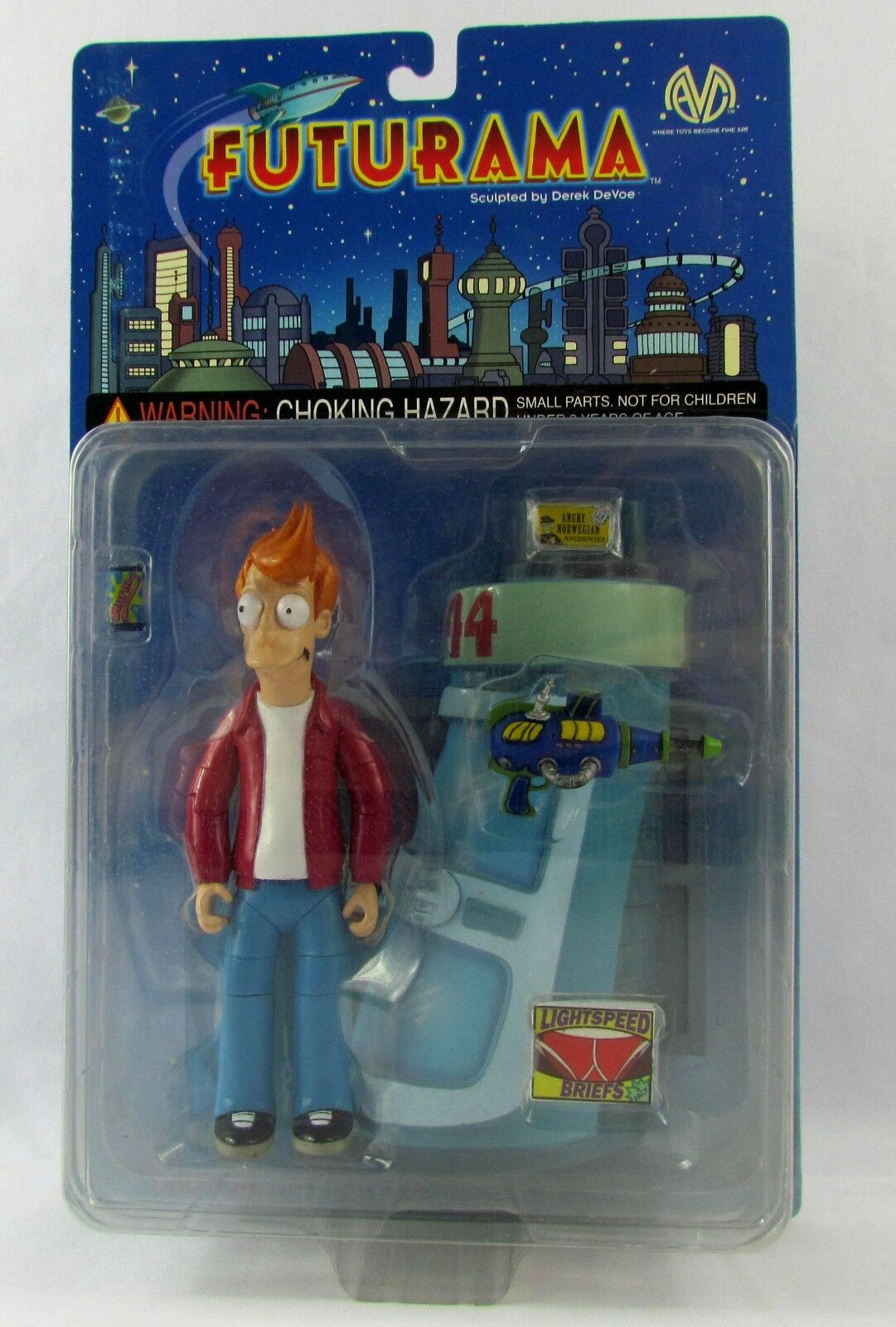 Futurama fry action - figur von moore collectibles 2000 new in box verschlossen moc