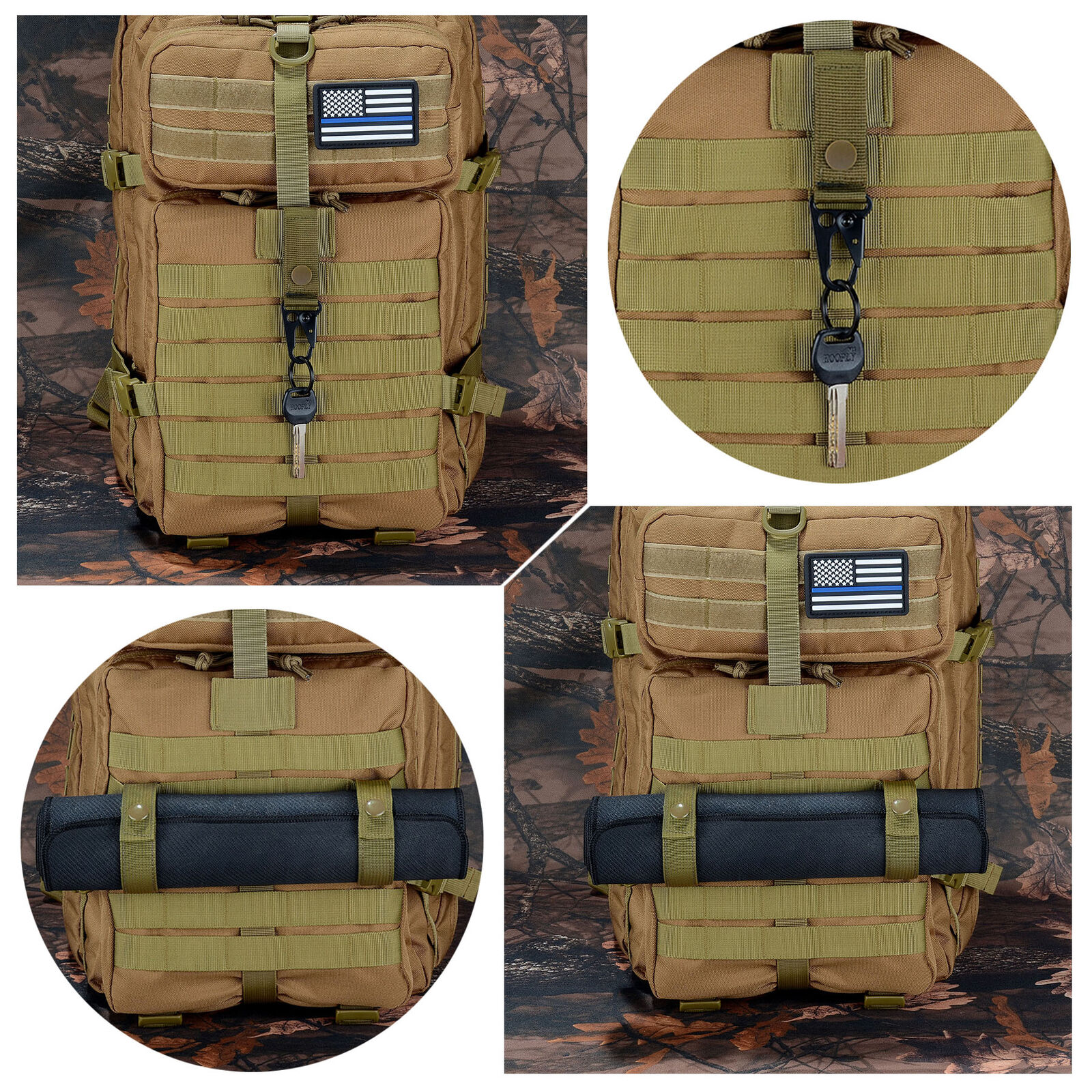1PCS Molle Strap Military Backpack Bag Webbing Connecting Buckle New Clip FBES