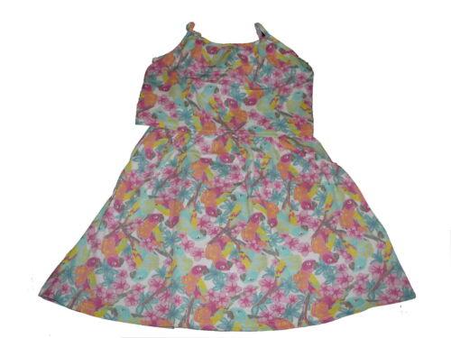NEU Dopodopo tolles Kleid Gr 122 mit Papageien Motiven !!