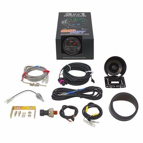 GS-3G-05 3 in 1 Black Exhaust Temp w// Digital Boost and Temperature Gauge