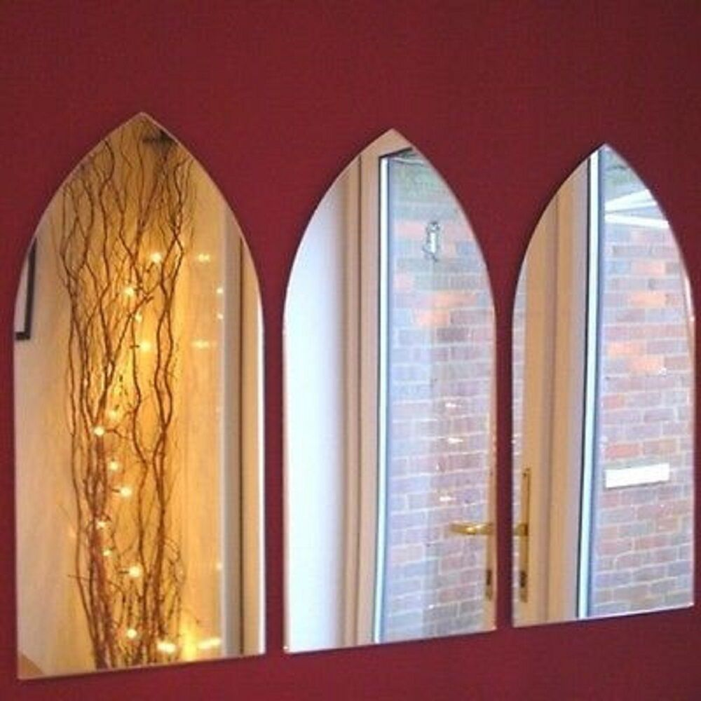 Gothic Arch Mirror - Set of 3 (45cm x 20cm each)