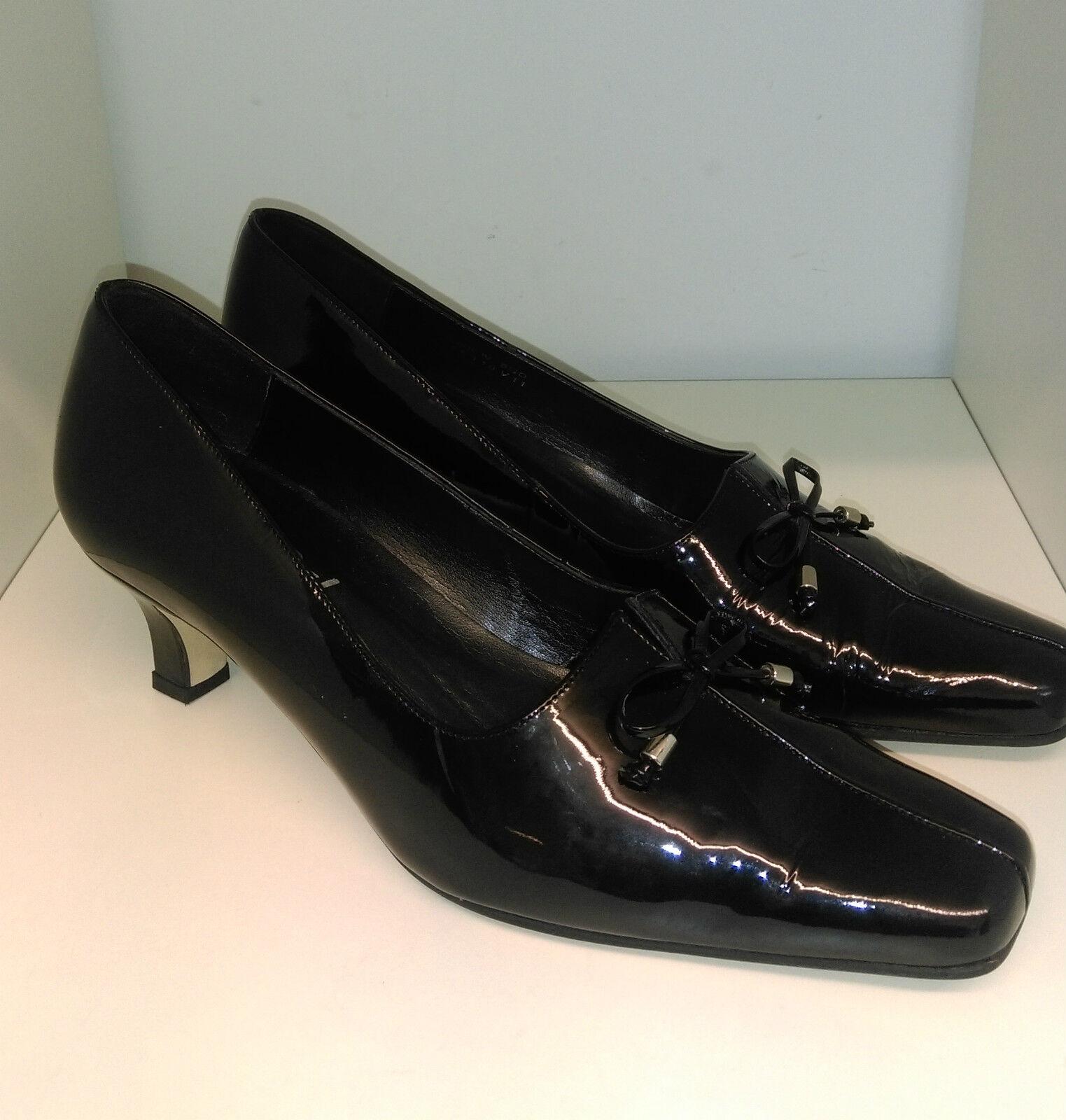 Van Dal Black Patent Leather Court Shoes Size 6.5D - Sukie IV