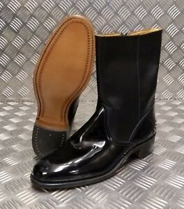 Genuine British Made Hobson Military Officers ½ Wellington Boots With Spur Box