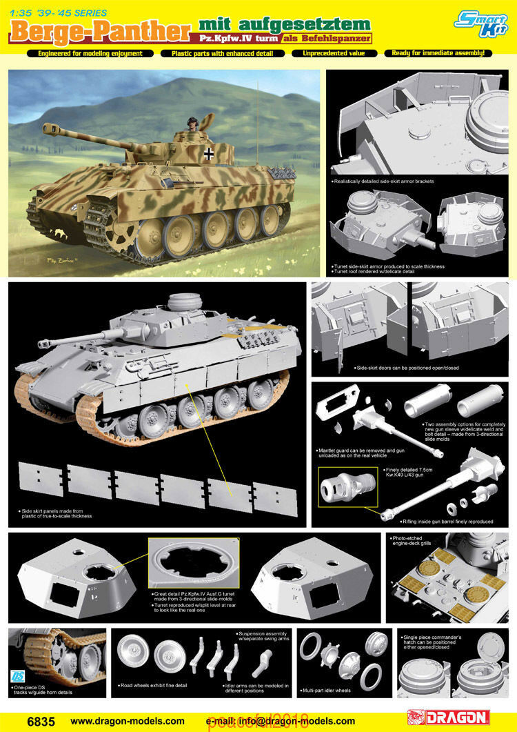 Dragon 6835  1 35  Berge-Panther mit aufgesetztem Pz.Kpfw.IV turm Befehkspanzer