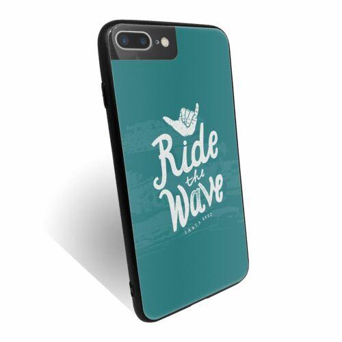 Para iPhone 7 Plus Carcasa Cubierta posterior de vidrio templado de Santa Cruz Surf-S474