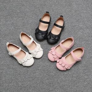 Image is loading Toddler-Kids-Girls-Flats-Shoes-Princess-Baby-Children-