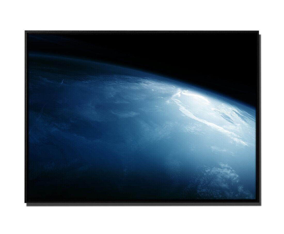 105x75cm Leinwandbild Petrol Weltall Erde