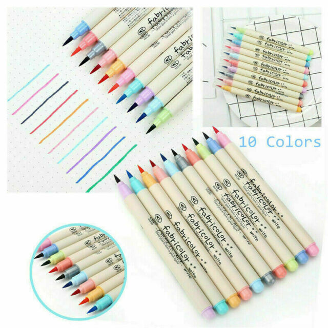 24 Color Watercolor Brush Marker Pens Dual Tips Soft Fine Art Drawing Pen YBT