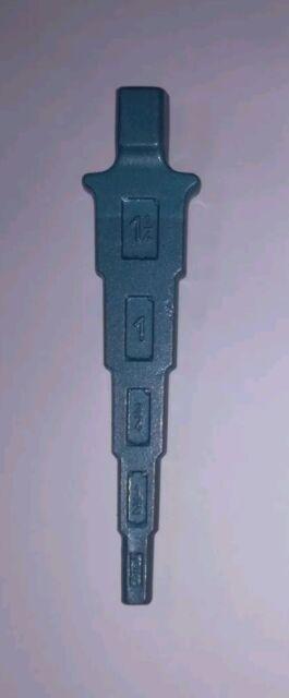 Stufenschlüssel 376100 f.Ventilnippel 3//8//1//2//3//4//1u.1.1//4Zoll bl lackiert