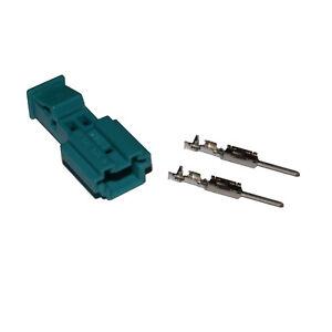 Stecker-2-polig-Reparatursatz-uncodiert-fur-BMW-61138373583-mannlich-Crimp