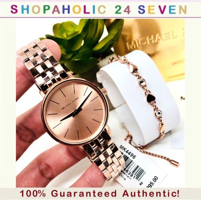 Michael Kors Women's Mini Pyper Watch and Bracelet Gift Set MK4496; 100% Auth.