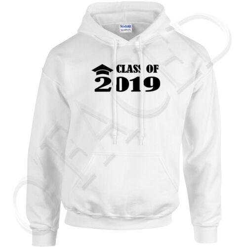 Graduation Cap Grad Year  Hoodies Class of 2019 Hooded Sweatshirt 1763C