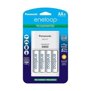 Panasonic-Eneloop-AA-2000-mAh-NiMH-Batteries-with-Charger-4-Pack-Batteries