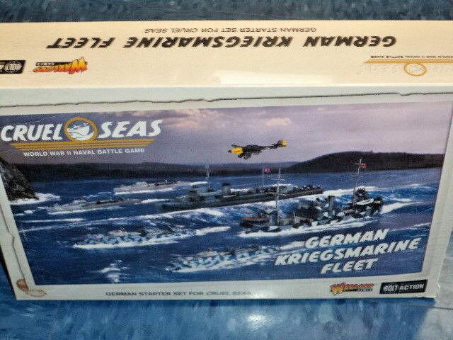 Alemán Kriegsmarine flota Starter Set 1 300 Modelos Naval Guerra Mundial dos Warlord Games Nuevo