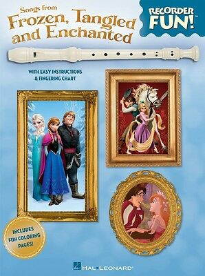 Musical Instruments & Gear Wind & Woodwinds Hospitable Songs From Frozen Tangled And Enchanted Recorder Fun With Easy Instruc 000130680 Latest Technology