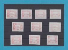 Sonderpreis Kollektion FRAMA-ATM Portugal Nr. 001-010 ** 10 Werte div. Typ./Pap.