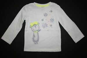 New-Gymboree-Girls-Cozy-Ski-Lodge-Snow-Cub-Ivory-Top-Shirt-NWT-12-18M-18-24M