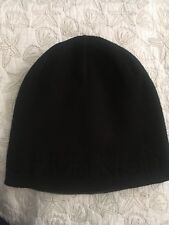 35044c98aa2a3 Calvin Klein Mens Embossed Logo Beanie Cap Black Winter Hat