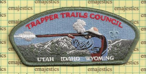 BSA CSP TRAPPER TRAILS COUNCIL 2012 UNIFORM DONATION GREEN BORDER