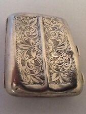 Decorative Solid Silver Card / Cigarette Case - Birmingham 1917