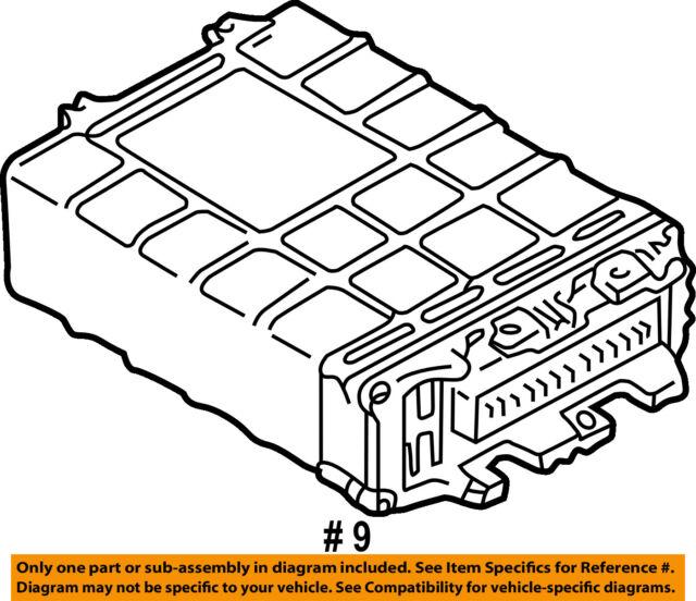 Vw Volkswagen Oem Cabrio Ecm Pcm Ecu Engine Control Module Computer