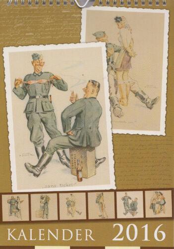 Weltkrieg Karikatur Erotik Pin-Up Wehrmacht Almanach Kalender 2016 Soldaten 2