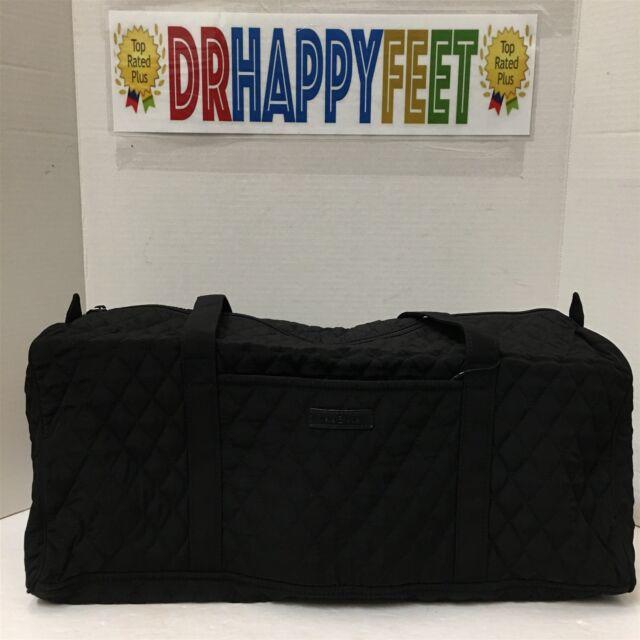 NEW Vera Bradley SMALL DUFFEL BAG Classic Black Travel Carry On Luggage NWT