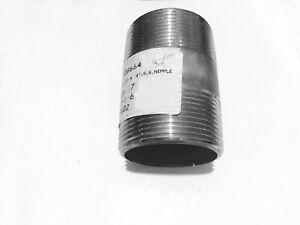 "2-1/2"" x 4""  316 Stainless Steel Nipple  NPT Threaded"
