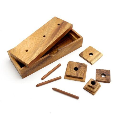 Pagoda Turm Wanderturm Holz Puzzle Knobel IQ-Spiel X Der Turm von Hanoi